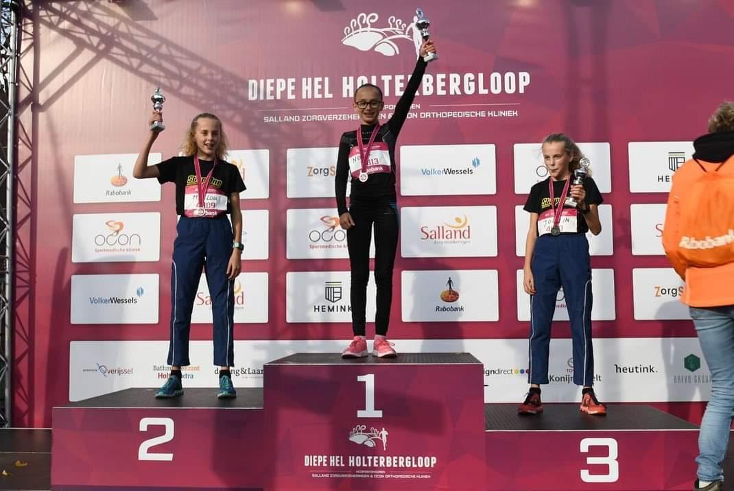10 podium plaatsen bij de Diepe Hel Holterbergloop
