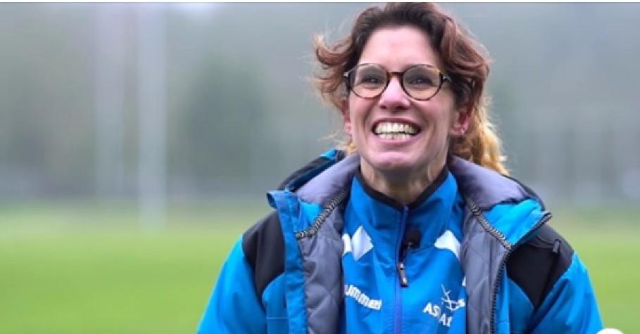 Brigitte in promofilm van de Atletiek Unie