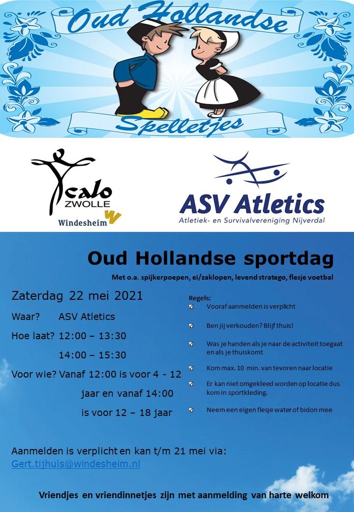 Oud hollandse sportdag – zaterdag 22 mei
